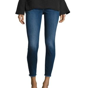 7 for all mankind Ankle Skinny Jeans Raw Hem 26